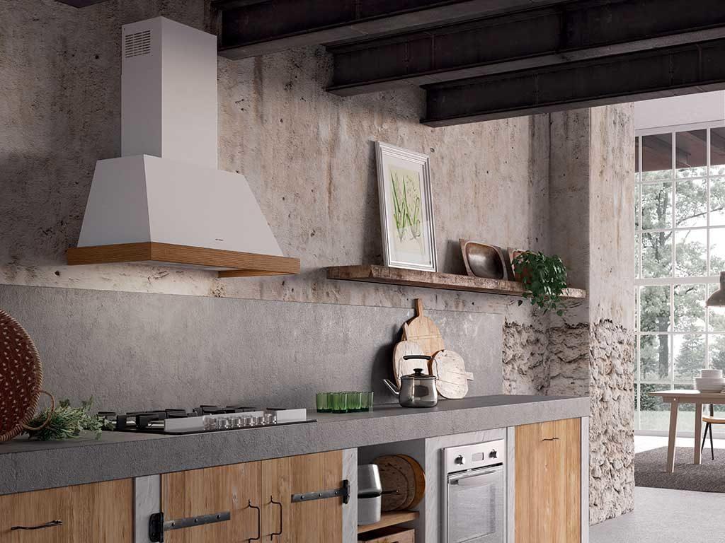 cappa a parete cucina bianco