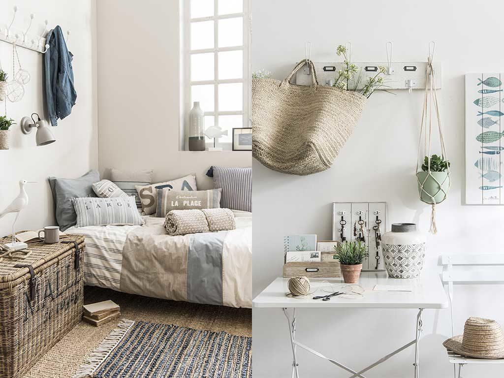 divano cuscini cesto paglia