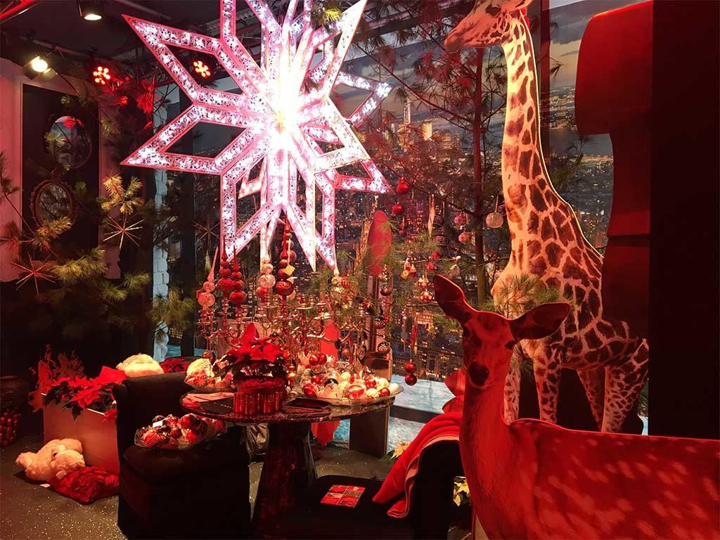 decorazioni natale rosso