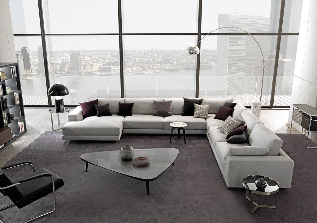 divano modulare bianco salotto