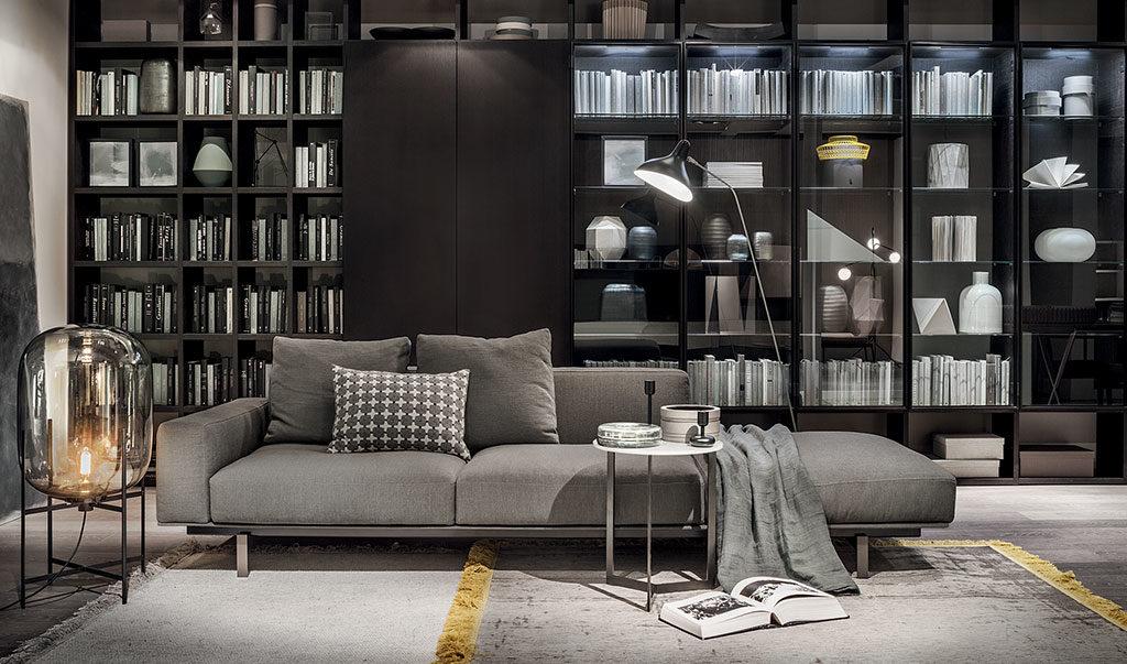 divano antracite tre posti