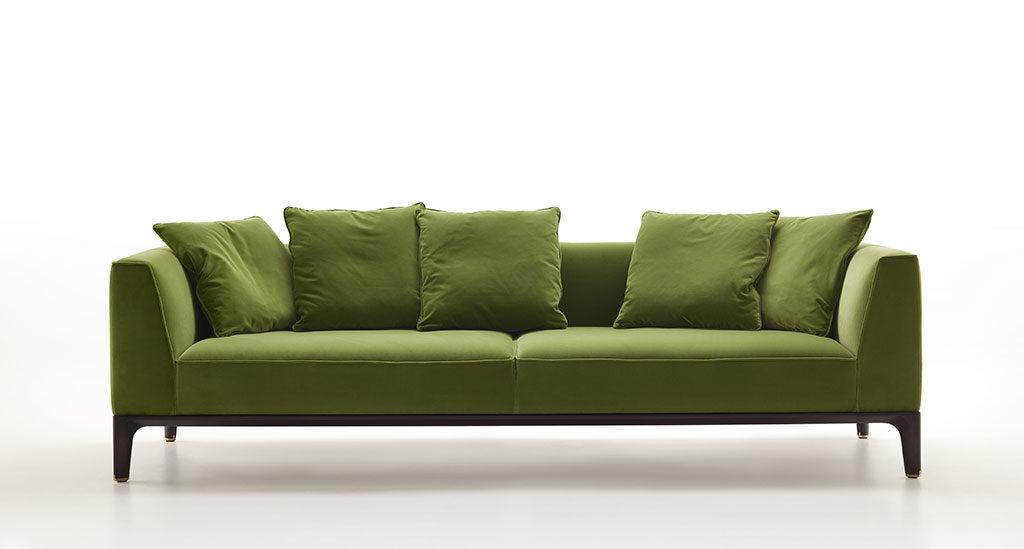 divano tessuto verde