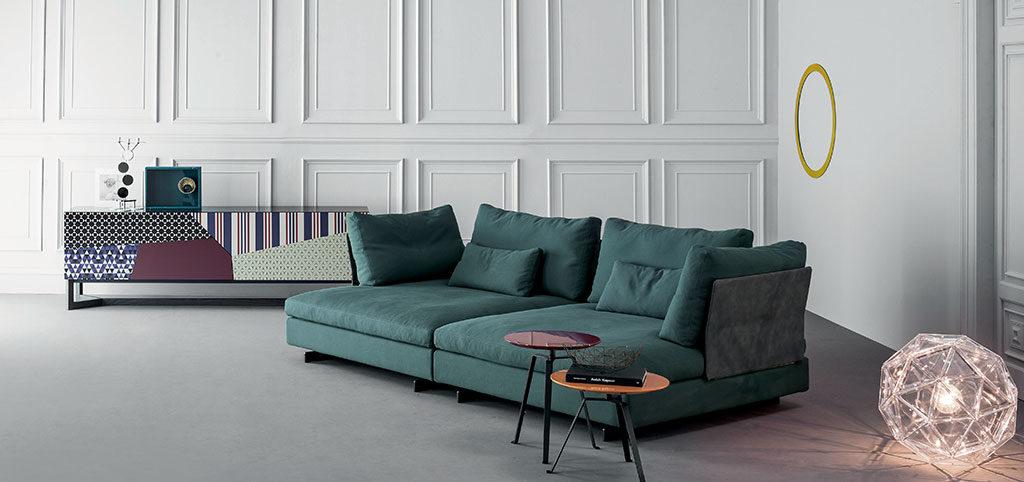 divano verde seduta profonda