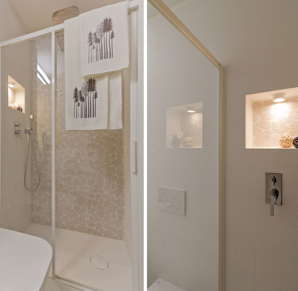box doccia e nicchia luce