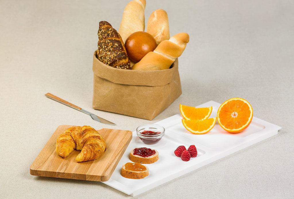 vassoio tagliere legno sacchetto pane
