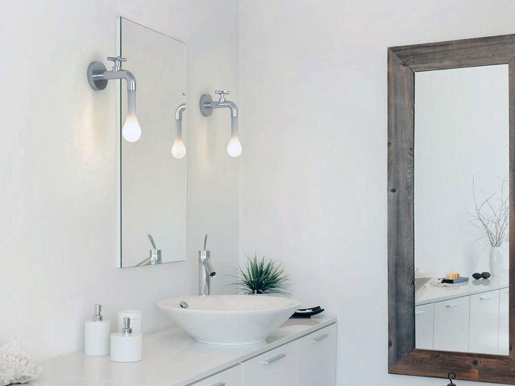 lampade parete rubinetto