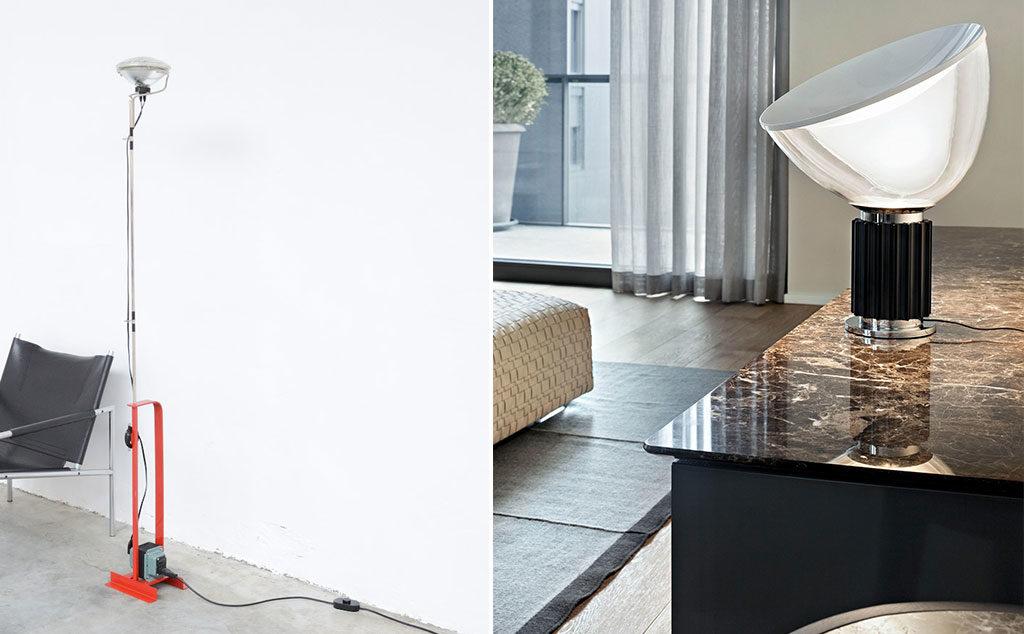 lampada terra e tavolo