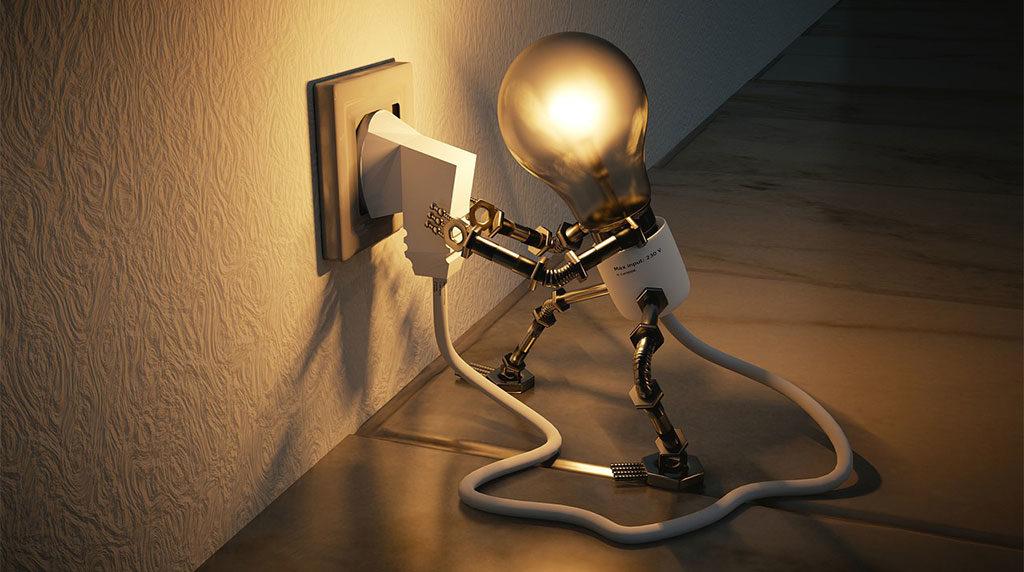 lampadina che tira presa