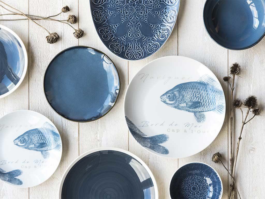piatti ceramica blu bianco disegni