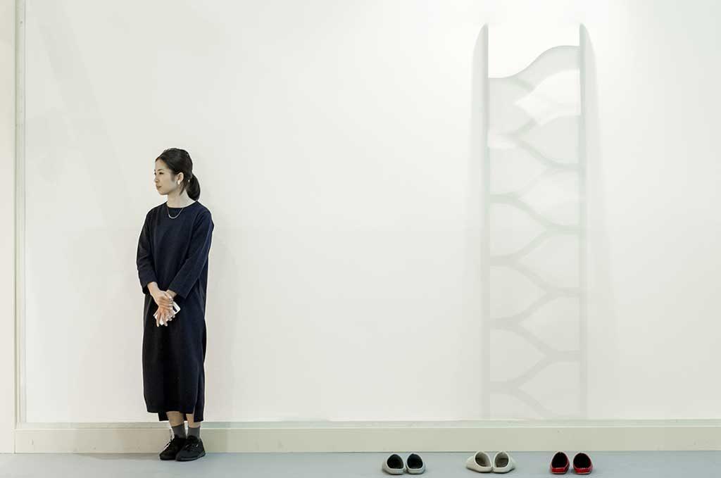 giappone scarpe donna in piedi