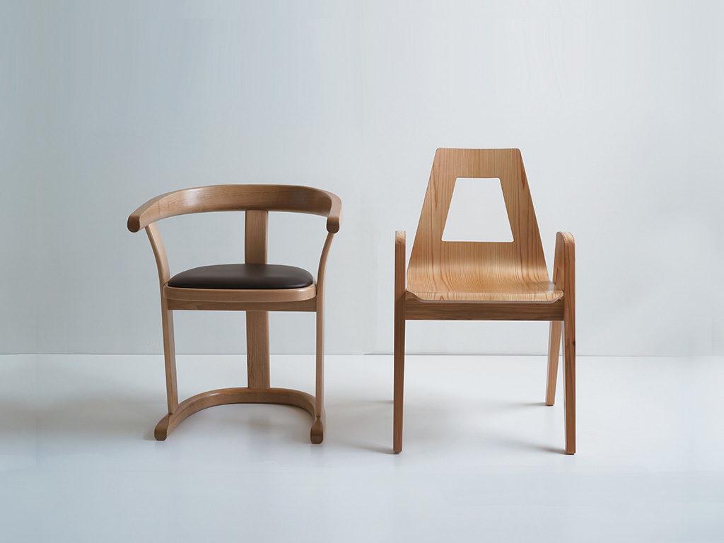 sedie legno artigianato giapponese