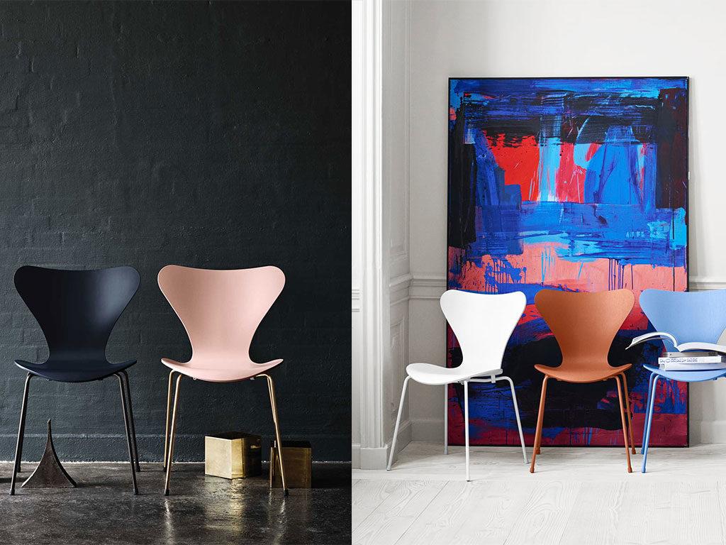 sedie serie 7 jacobsen legno colore