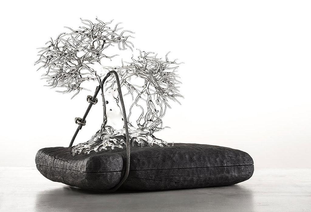 bonsai vetro soffiato lume