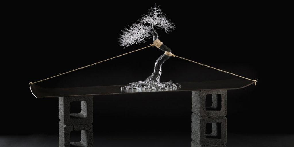 bonsai vetro in tensione corde