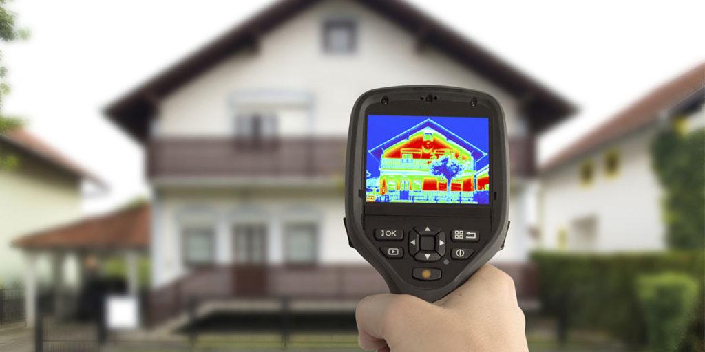 mano termografo casa