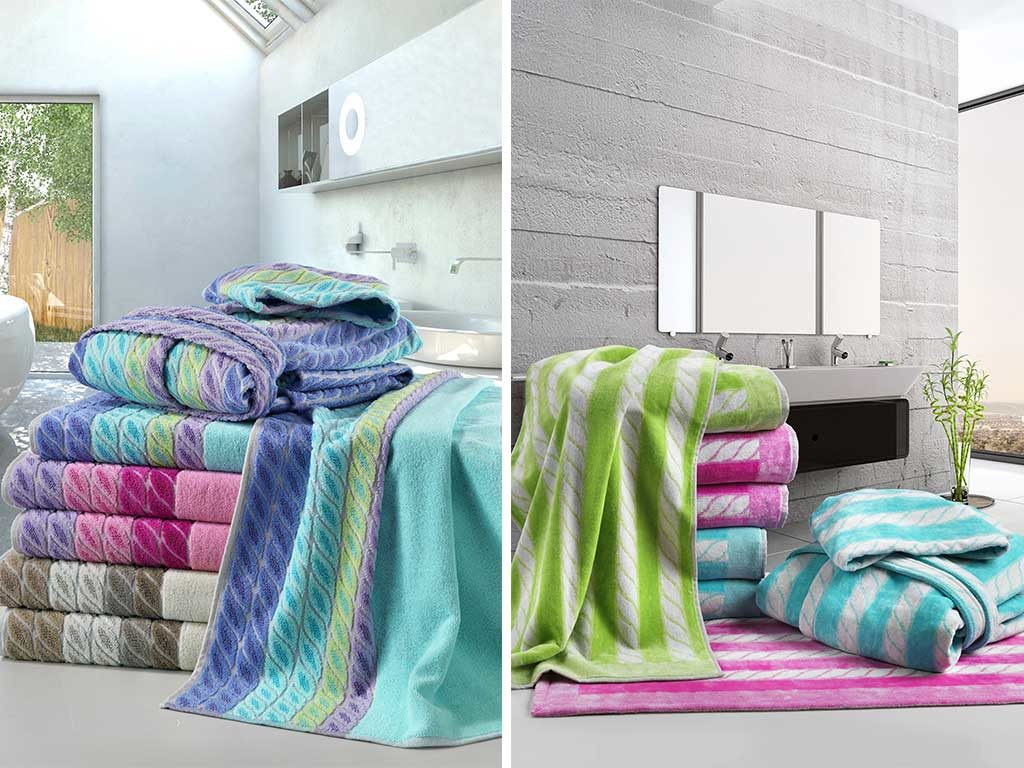 asciugamani teli colorati