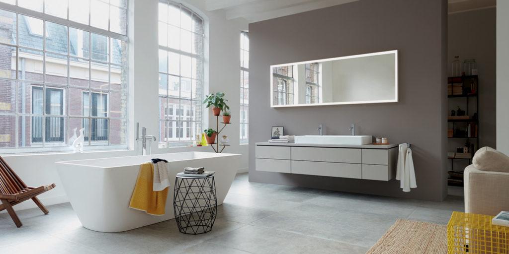 lavabo doppio vasca bagno specchio