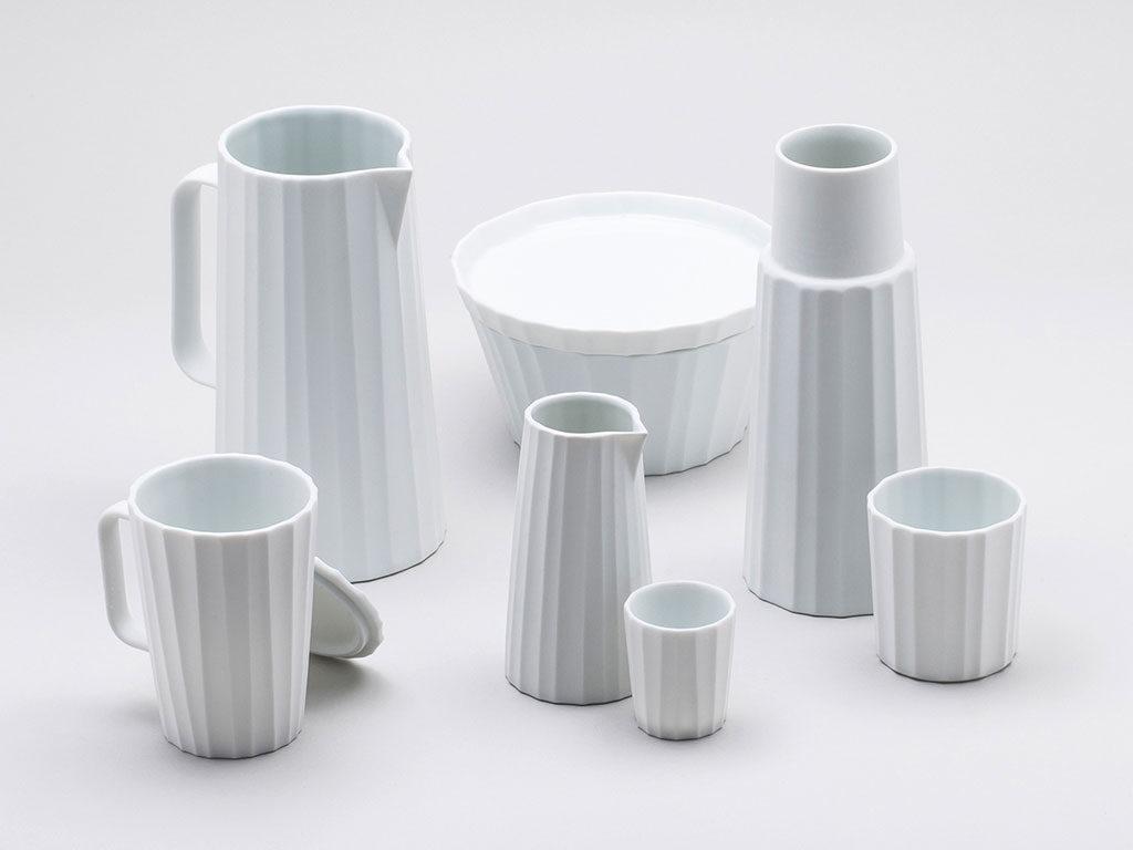 ceramica bianca tazze brocche