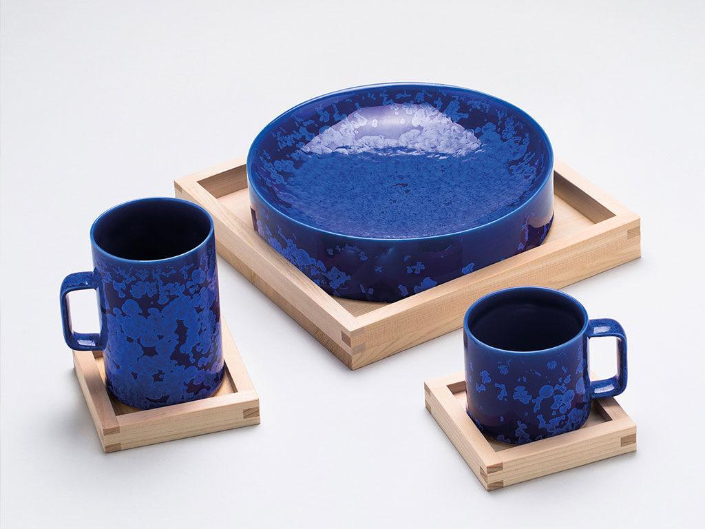 ceramica blu giapponese