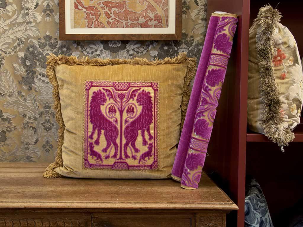 cuscino velluto fatto a mano