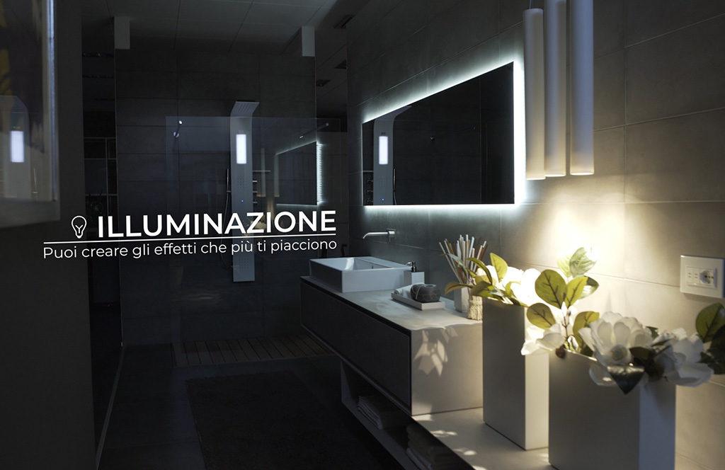 illuminazione bagno domotica
