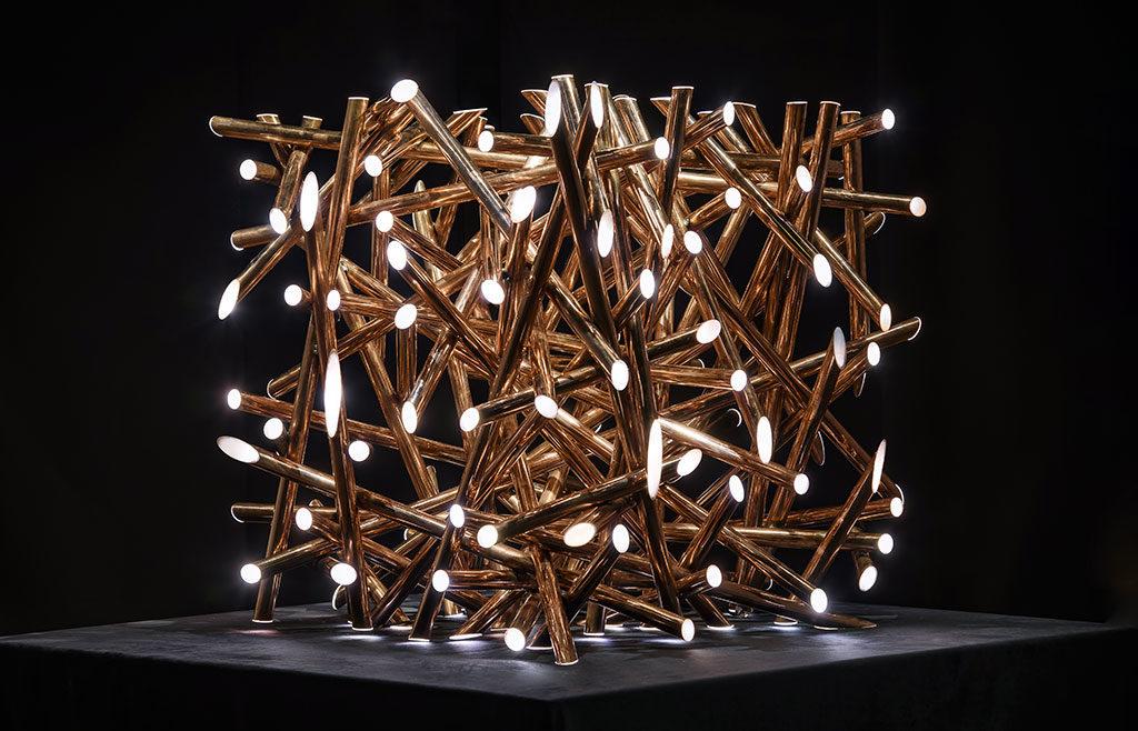 lampade design oro e led