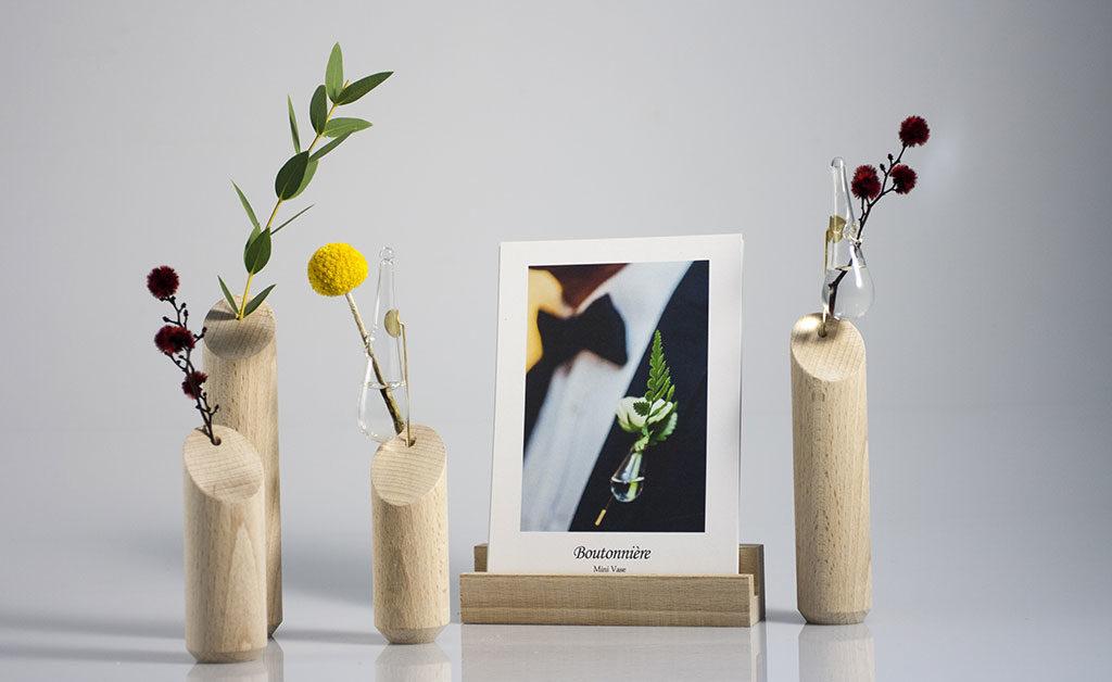 design legno vasi e portafoto