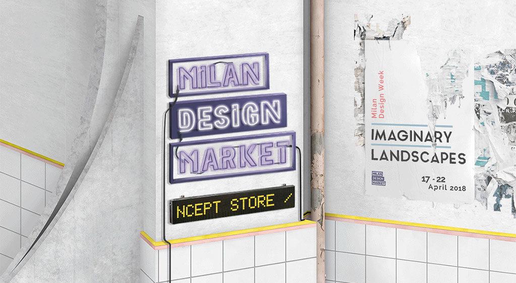 insegna milan design market