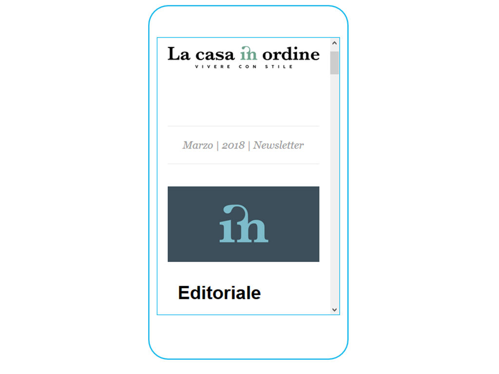 mobile grafica newsletter