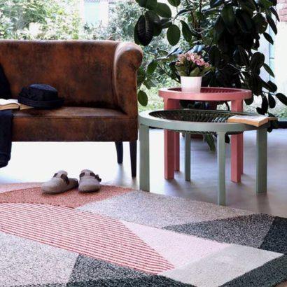 tappeto semicircolo in living casa