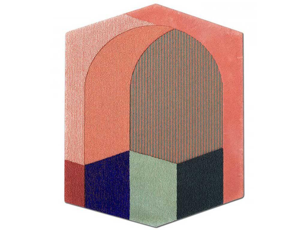 tappeto colorato effetto prospettiva