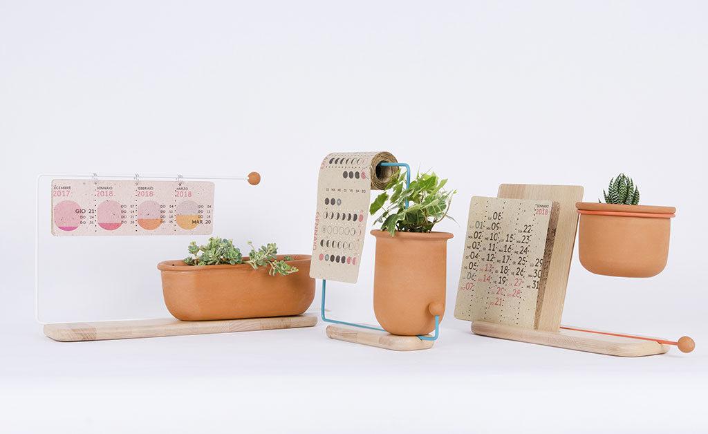 vasi piante con calendario