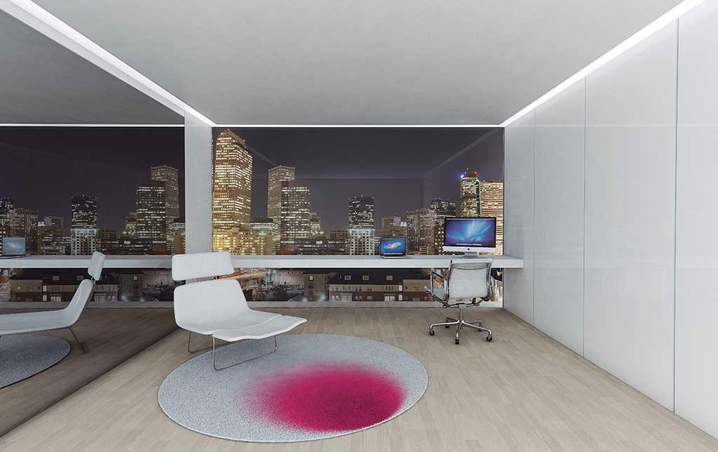tappeto rosa macchia sedia pc tavolo