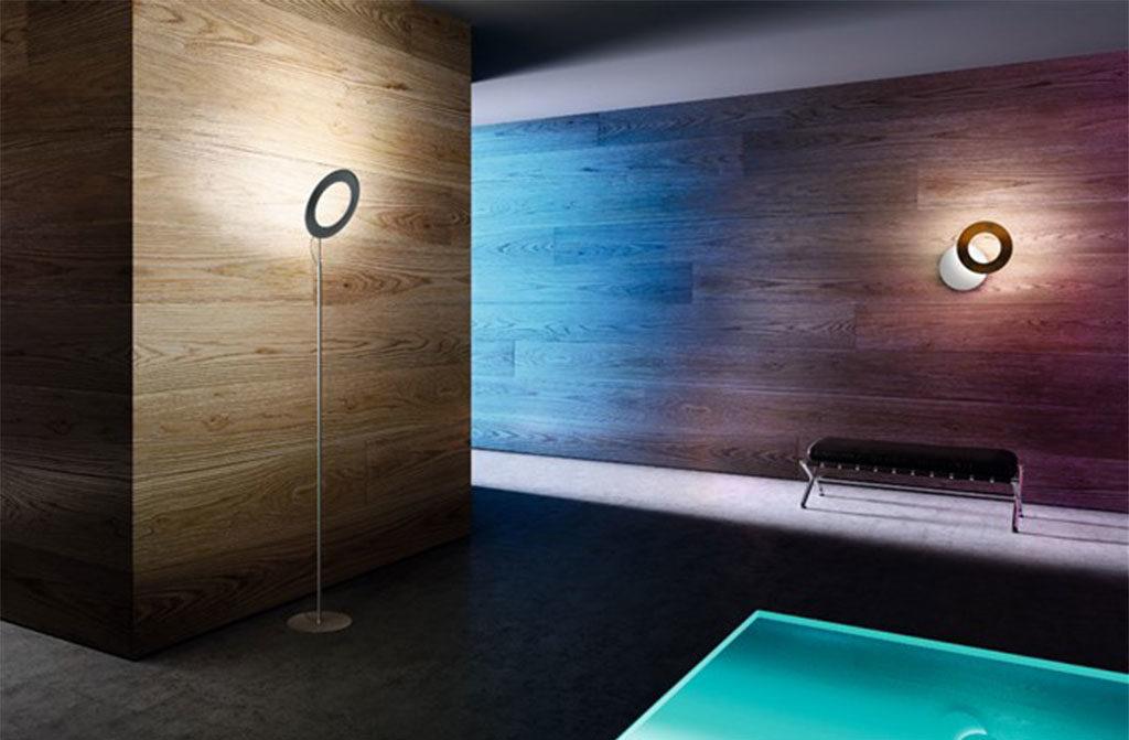 lampada da terra e parete led