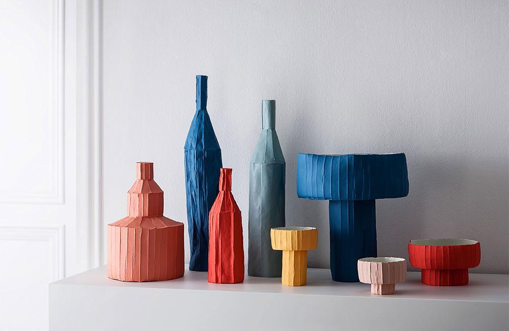 bottiglie vasi ceramica colorata