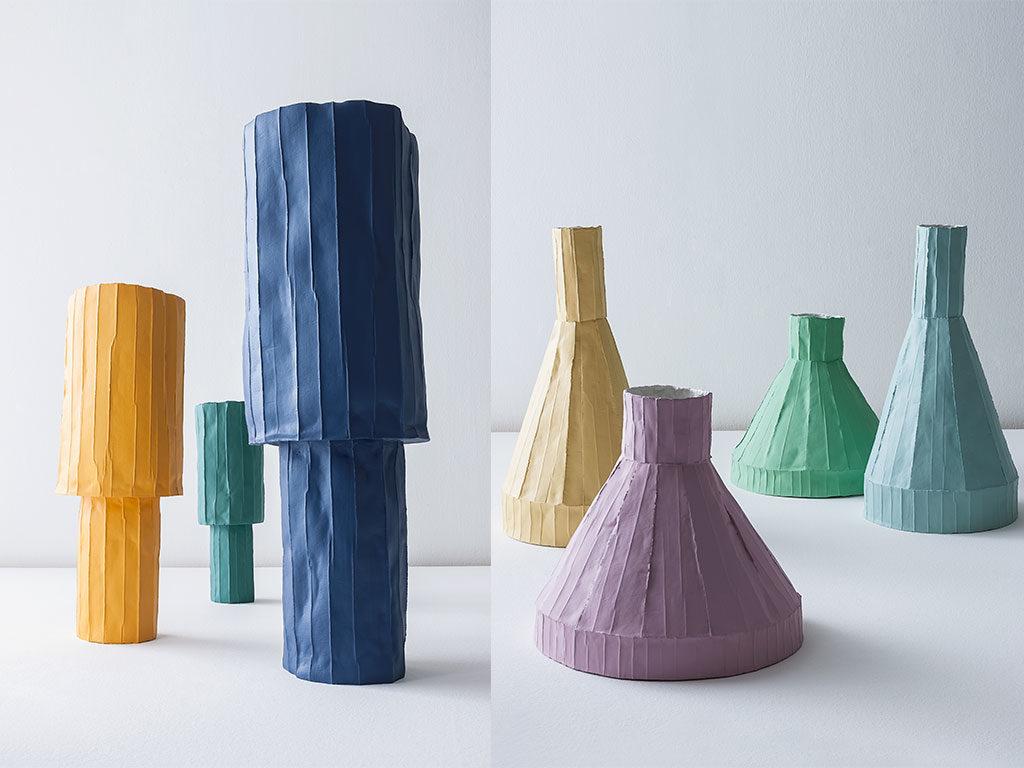 ceramica colore vasi pastello