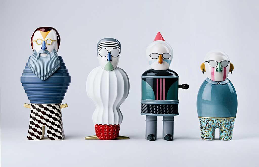 personaggi pupazzi ceramica