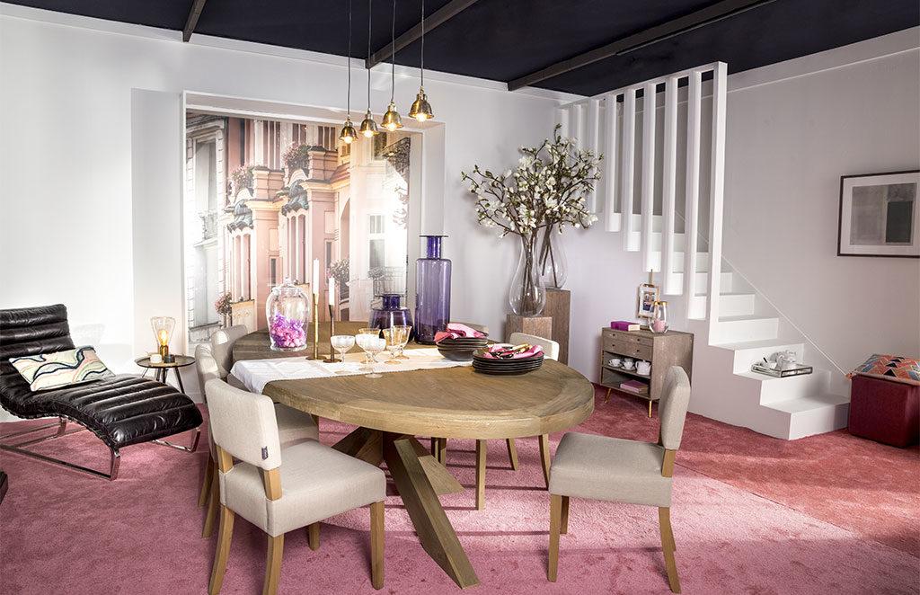 living tavolo sedie lampade
