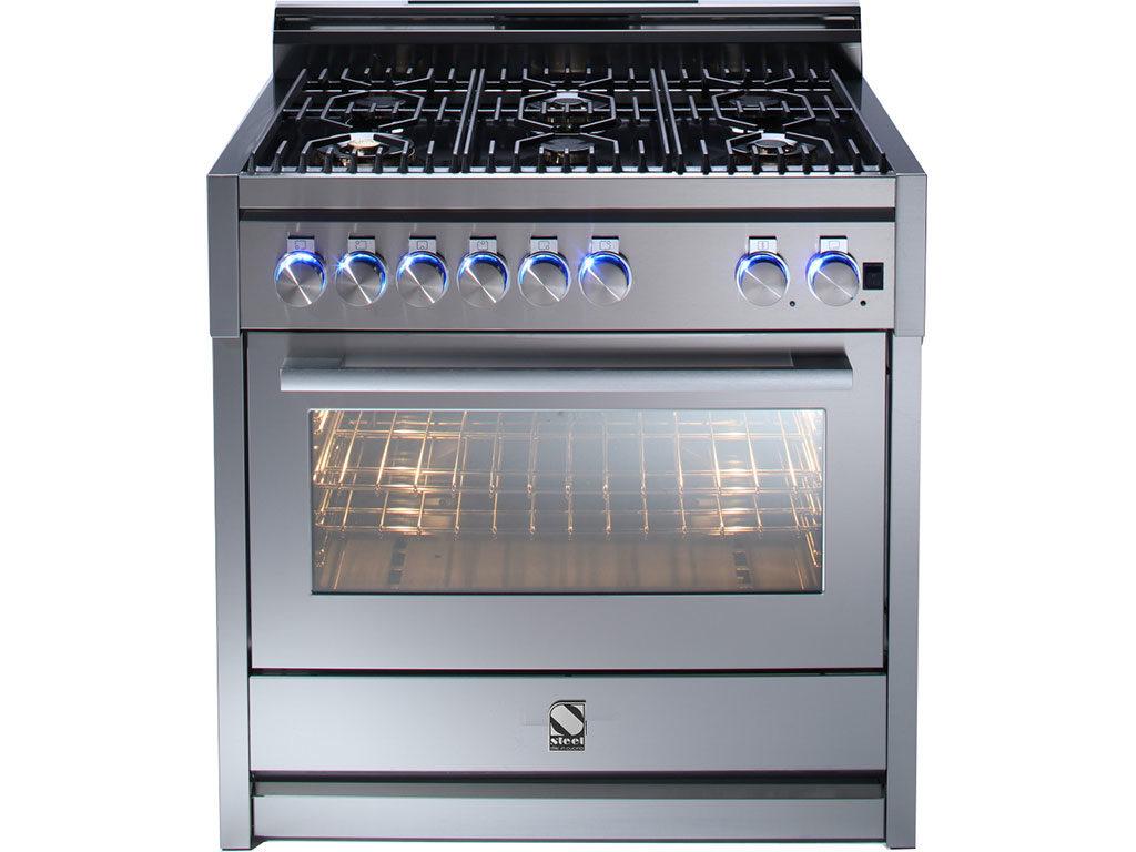cucina gas con forno ibrido