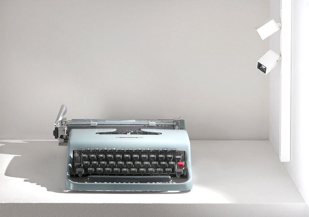 faretti led macchina scrivere