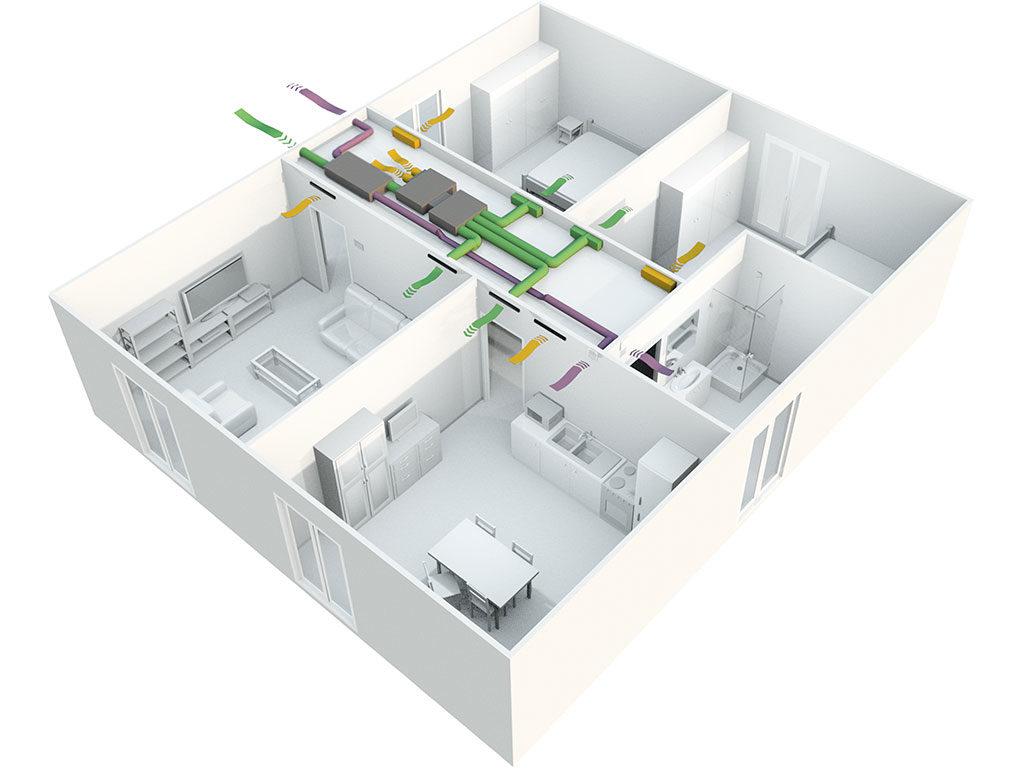schema impianto aria canalizzata