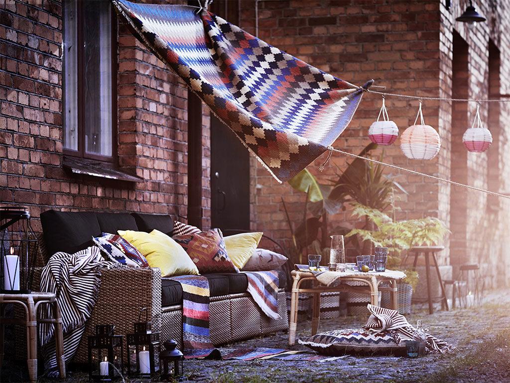 divano esterno lanterne