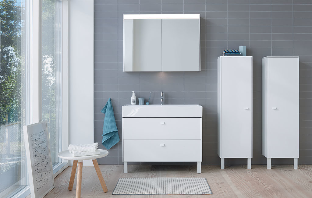lavabo mobile terra specchio luminoso