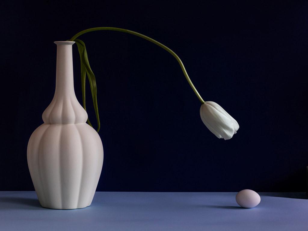morandina bianca bottiglia ceramica