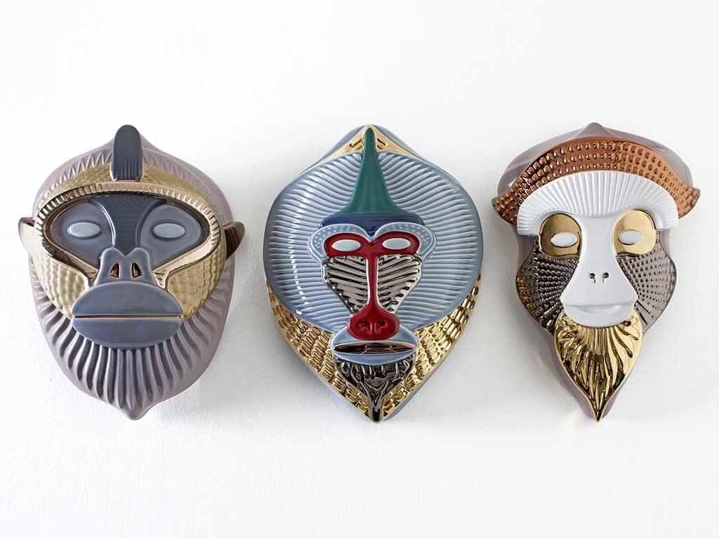 maschere in ceramica