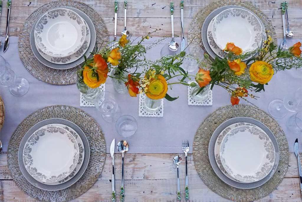 tavola primavera per quattro