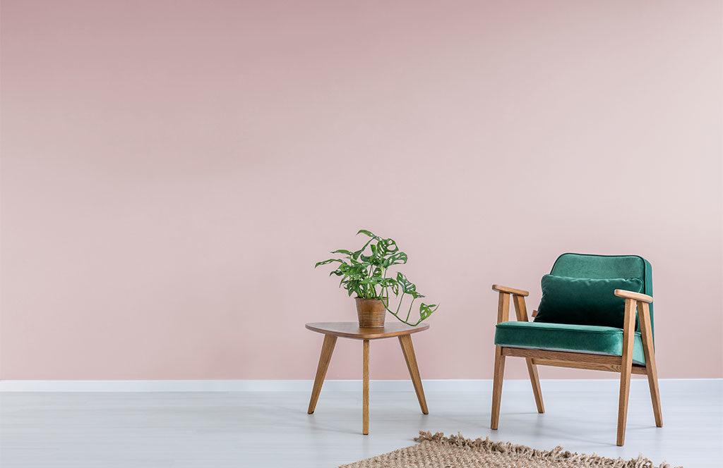parete vernice rosa pastello