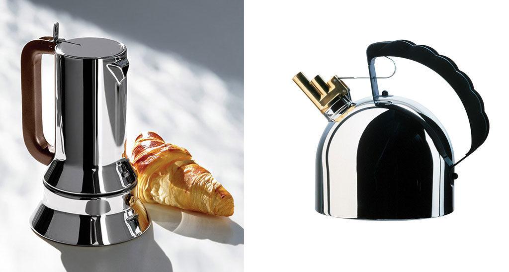caffettiera e bollitore acciaio