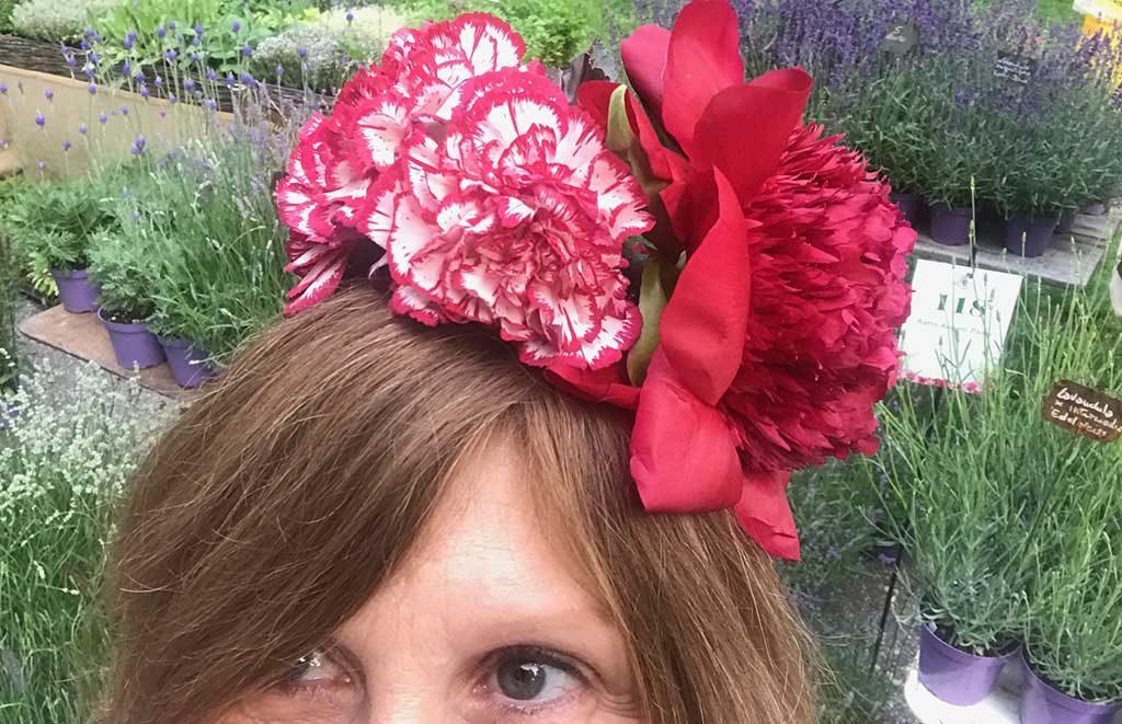 cappellino floreale
