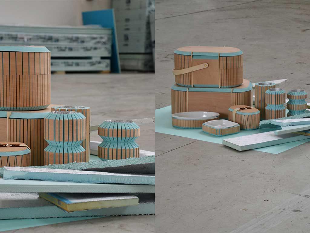 contenitori legno scarto colore